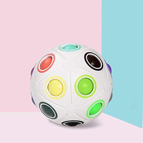 Intellektuelle Kinderspielzeug, Puzzle Dekompressionswürfel, Magic Rainbow Ball, Kreative Finger Mini Football Alien Cube, Anfänger