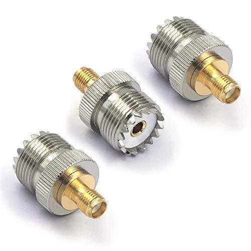 VCE 3 Stück Sat Adapter UHF Stecker auf BNC Buchse Koxial Adapter pl 259 Adapter - Pl-259-adapter