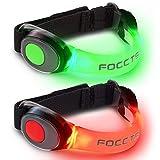 FOCCTS 2 Stück Sicherheits Blinken LED Armband Hell Leuchtendes Jogging Licht