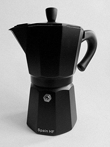 Happy Friends - Cafetera Espresso - Aluminio -3 Tazas - Negro