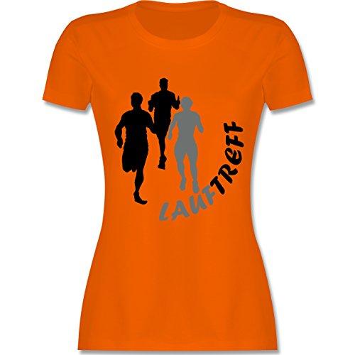 Laufsport - Lauftreff - tailliertes Premium T-Shirt mit Rundhalsausschnitt für Damen Orange