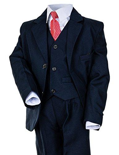 Hei Mei 5tlg. Jungen Fest Anzug Kommunionsanzug Smoking Kinderanzug für Viele Festliche Anlässe M133bl Blau 8/122/128