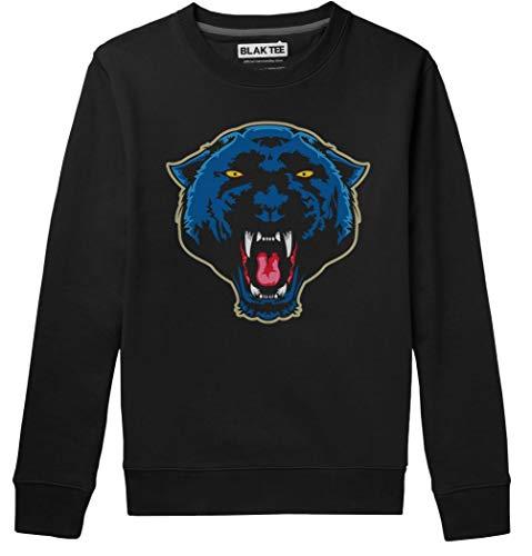 BLAK TEE Angry Panther Face Unisex Damen Herren Pullover Sweatshirt XL