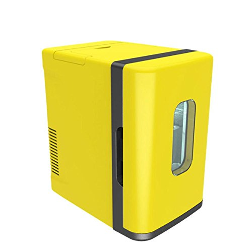 Preisvergleich Produktbild 10L Mini-Auto Kühlschrank Low Power Student Wohnheim Gefrierschrank weiß gelb ,  lemon yellow
