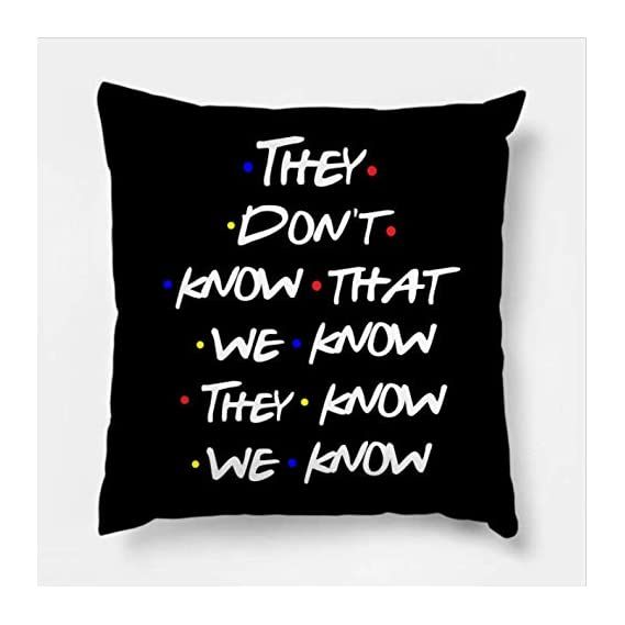 AEROHAVEN? Premium Satin Friends TV Series - They Don't Know That We Know They Know We Know Decorative Throw Pillow/Cushion Cover