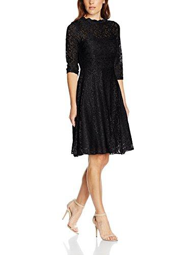 Intimuse Damen, Cocktail Kleid mit Spitzendetails, Schwarz (Schwarz 001), 42
