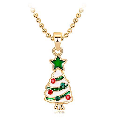 Gotian Halskette für Damen, weihnachtlich, modisch, Statement-Kette, Spitzen-Schmuck, süß B -