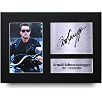 Arnold Schwarzenegger Los Regalos Firmaron A4 la Dedicatoria Impresa The Terminator La Foto de Impresión Imagina la Demostración