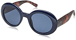 Tommy Hilfiger Womens Th1525s Oval Sunglasses, Blue, 50 mm