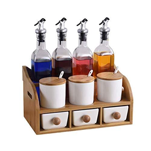 YWT Frasco de Especias y Set de Botellas de Aceite