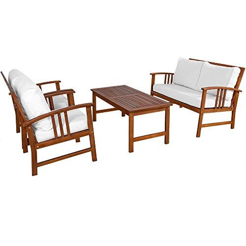 Deuba Wooden Garden Furniture Patio Bistro Set FSC Certified 4 Seater Acacia Hardwood