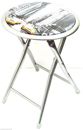 Chaise-design-New-York-Tabouret-pliant-tabouret-Chaise-pliante-Tabouret-rond-assise-de-chaise