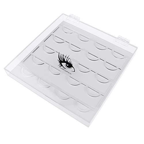 Homyl Boîte de Stockage de Cils Acrylique Transparent Organisateur de Maquillage Présentoir