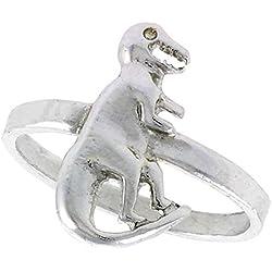 Plata esterlina Anillo de dinosaurio T-Rex