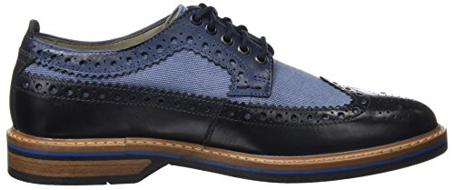 Clarks Pitney Limit, Scarpe Stringate Basse Brogue Uomo Blu (Blue Combi Lea)