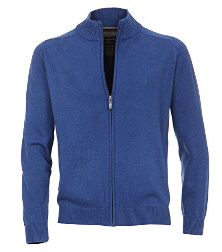 Casa Moda - Herren Strickjacke in verschiedenen Farben, S-6XL (004250) Blau (128)
