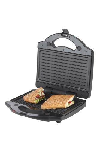 Korona 47016 - Sandwichera 2 en 1 (para tostadas XXL, 2 pares de bandejas intercambiables)