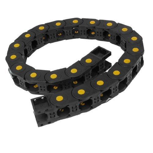 sourcingmap® 105 cm de longueur en plastique Noir Towline frein de chaîne câble 25 mm x 25 mm