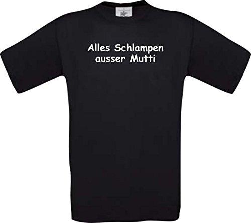 Shirtstown Kinder-Shirt lustige Sprüche, Alles Schlampen ausser Mutti, kult, Farbe schwarz, Größe 128