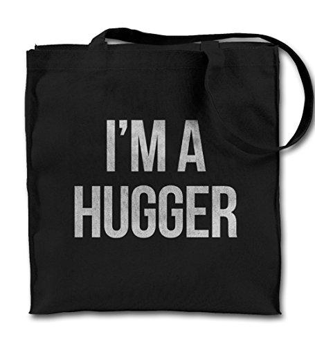 I'm A Hugger Friendly Cute Komisch Schwarz Canvas Tote Tragetasche, Tuch Einkaufen Umhängetasche -