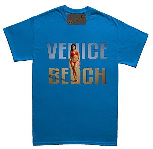 Renowned Venice Beach Unisex - Kinder T Shirt Blau