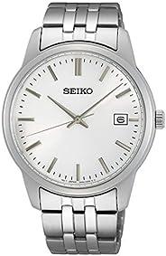 Seiko Essential Quartz Silver Dial Men's Watch SU