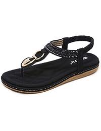 Pantofole Donna estive, Sandali Donna Styledresser Elegant Ciabatte Donna estive da casa Mare Sandali piatti Beach Open Toe Shoes Gioiello Moda Donna