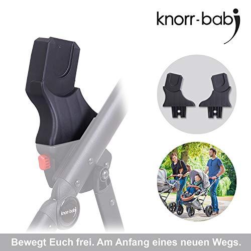 knorr-baby 35096 Adapter für Babyschale - Kombi-Kinderwagen YAP und MADEIRA, Schwarz