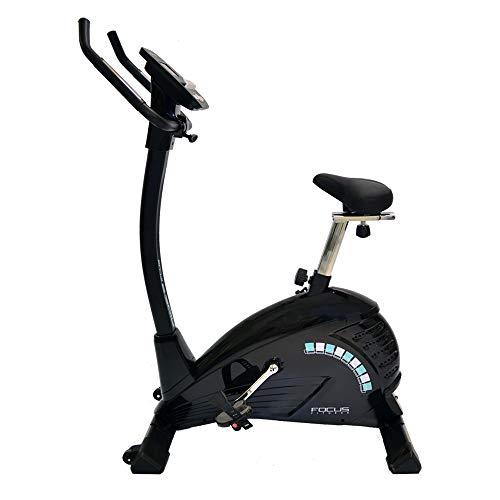 FitBike Heimtrainer Ride 5 iPlus - Smartphone/tablet App kompatibel - 16 Widerstandsniveaus mit 19 Trainingsprogrammen - 10 kg Schwungrad - Fitnessbike