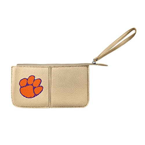 Littlearth Damen NCAA Clemson Tigers Pebble Wristlet, Gold, 20,3 x 10,2 x 2,5 cm -