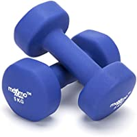 Maximo Fitness Neoprene Dumbbell Weights (Pair) - 0.5kg, 1kg, 2kg, 3kg, 4kg, 5kg - Perfect Hand Weights for Strength Building, Muscle Toning, Home Gym and Rehabilitation - Ideal for Men and Women.