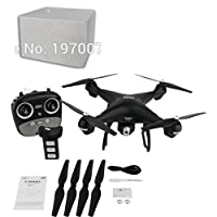 Jintime S70W GPS FPV Drone Quadcopter with 1080P HD Camera Wifi Headless Mode LED Lights 120° Wide-angle Lens
