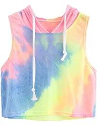 Camisetas con Capucha sin Mangas para Niñas Adolescentes�� LILICAT® Blusa Tops Sexy de Verano de Moda 2018, Chalecos de Vestir Deportivos Mujer - Mezcla de algodón (XS, Multicolor)