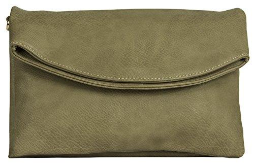 Big Handbag Shop - Borsa a tracolla donna Camel - Plain