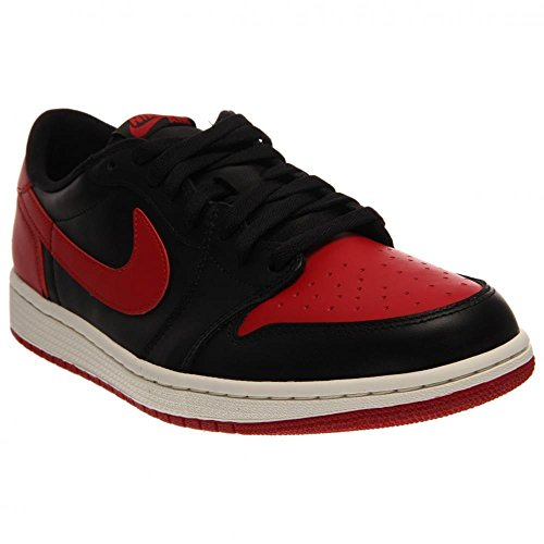 Nike Air Jordan 1 Retro Low Og, Chaussures de Sport Homme, Taille Multicolore - Negro / Rojo (Black / Varsity Red-Sail)