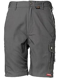 Planam Shorts Canvas 320, Größe L, grau / schwarz, 2173052