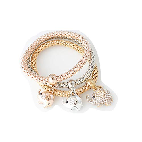 HDCooL Women's Bracelet Tricolor Imitation Crystal, used for sale  Delivered anywhere in UK