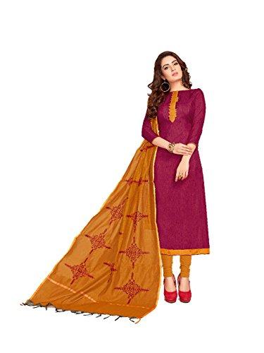 Shree Ganesh Retail Womens Banarasi Cotton Silk Slub Churidar Material | Salwar...