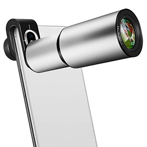 Handy Objektiv, 16x Zoom Teleobjektiv, Aluminiumlegierung HD Kamera Objektiv für iPhone, Samsung, Android Smartphone, Monokular Teleskop