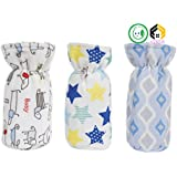 Aarushi Soft Feeding Bottle Cover Multicolor And Mix Print (Pack Of 3)