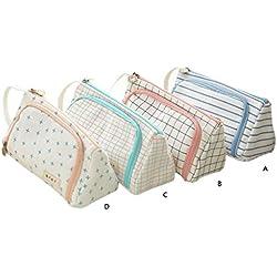 fanbufan bolsa de lápiz caja de lápices escolar sólido Durable Zipper para Etudiants, color a 8.46in,4.33in