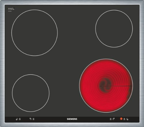 Siemens EA645GE17 iQ514 Kochfeld Elektro / 58.3 cm/Bedienung der Kochzonen über die Drehwähler am Einbauherd. / Steuerung: mechanisch/schwarz
