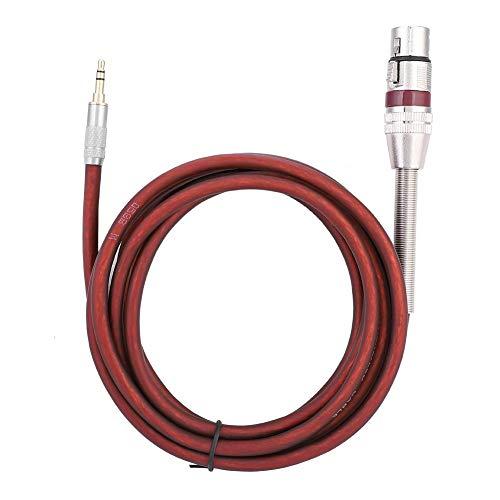 Dilwe Mikrofon Kabel, 2,5-mm-3,5-mm-Stereo-Klinkenstecker an EIN 3-Pin-XLR-Mikrofon Mic-Audio-Anschlusskabel(Braun)
