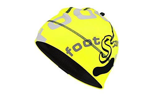 footSprint Thermo Outdoor Mütze Beanie Farbe: Neon Yellow Grey, Größe: L