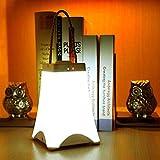 Guancy Führte kreative Dekorationlampe des Nachtlichts, die tragbare Lampe Wandlampe intelligentes Bettschlafzimmerschlafsaal lernt, Nachtlicht, warmes Gelb, weiß auf,White