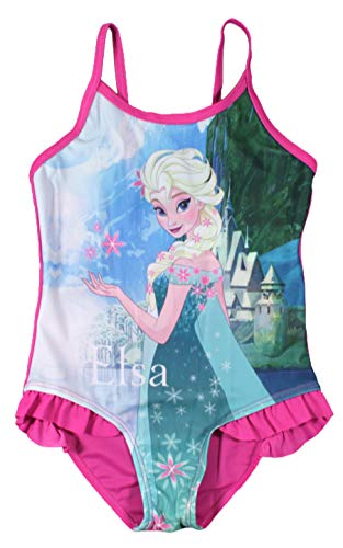 Disney Frozen Mädchen Schwimmen Kostüm (Rose, 5/6 Jahre)