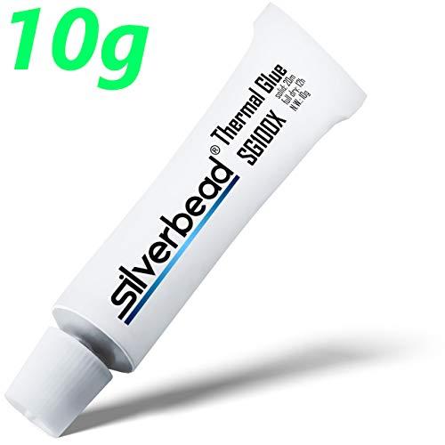 Silverbead Wärmeleitkleber Thermal Glue Adhesive | Waermeleitpaste klebend | für Heatsinks Kühlkörper LED VRAM VRM SMD CPU GPU und mehr - 10g SG100X