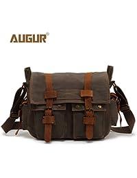 Unisex Crossbody Bag Military Shoulder Bags Vintage Messenger Bag Green