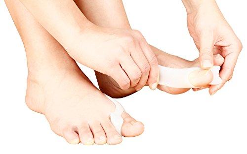 Punta separatori 2-in-1 bunion protettori plus allineamento dita dei piedi - 1 paio - correttori / protettori alluce valgo e raddrizzatore dita dei piedi imbottiti con morbido gel - confortevole trattamento bunion contro il dolore