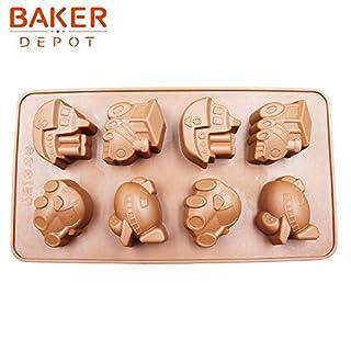 Zoomy far Zoomy weit: Kuchen dekorieren Werkzeuge DIY Schokoladenform 8 LATTS Fahrzeug Autofähre Design Formen SICM-008-7